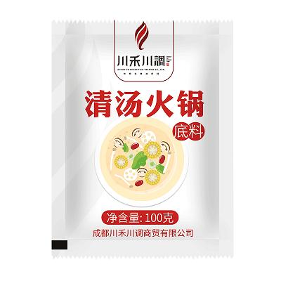 川禾川调火锅底料清汤不辣煮面煲汤调味料100g鸳鸯锅锅底餐饮商用